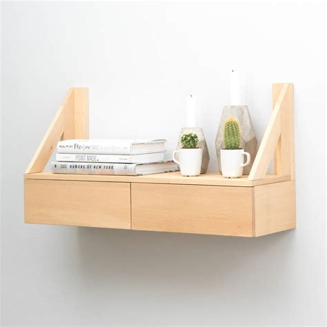Shelf With Drawers by Floating Beech Shelf With Drawers By Urbansize