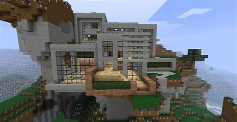Cliffside Mountain Home Minecraft Project