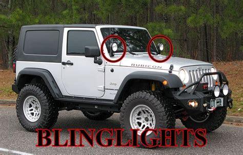 jeep road lights jeep wrangler jk tj yj road windshield side mirror