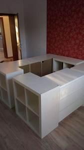 Ikea Hacks Podest : diy d co lit avec rangement faire avec 3 fois rien ~ Watch28wear.com Haus und Dekorationen