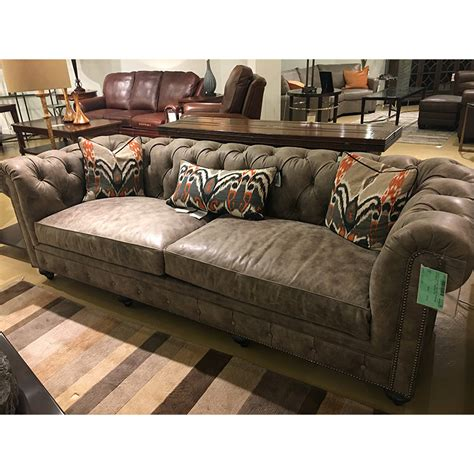 Cheap Couches Houston by Houston Sofa 1298 Classic Leather Sale Hickory Park