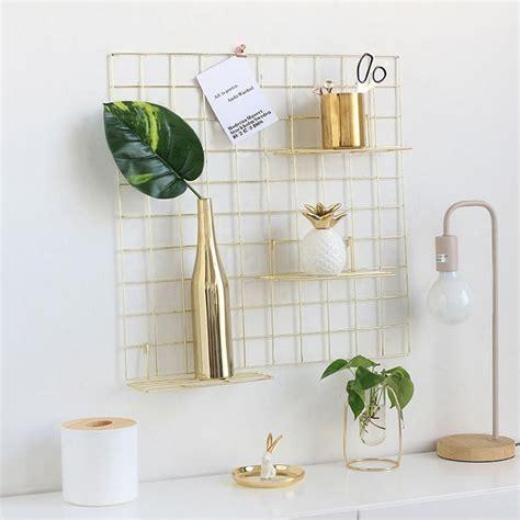 nordic minimalist modern wall grid wrought iron photo wall hanging rack plate mini rack