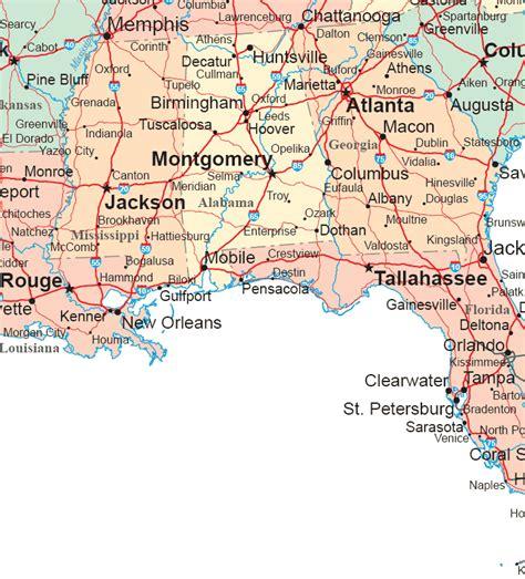 deep south map region area