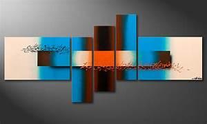 Tableau Salon Moderne : le tableau mural moderne summer spirit 180x80cm tableaux xxl ~ Farleysfitness.com Idées de Décoration