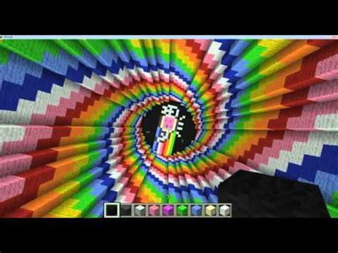 minecraft rainbow spiral youtube