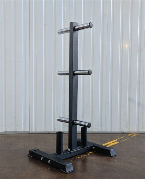 barbell  bumper plate storage tree gym garage