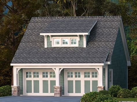 Craftsman-style 2-car Garage Plan