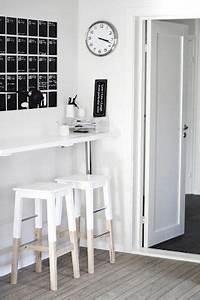 Tabouret De Bar Blanc Et Bois : tabouret de bar en bois blanc table basse et pliante ~ Nature-et-papiers.com Idées de Décoration