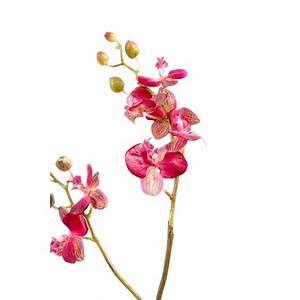 Mur De Fleur Artificielle : phalaenopsis medium artificielle 70cm fleur sur tige mat riel mur v g ~ Teatrodelosmanantiales.com Idées de Décoration