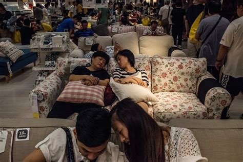 Shh. It?s Naptime at Ikea in China.   The New York Times