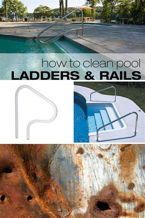 pool rails ladders clean cleaning smith