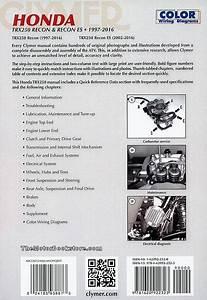 Honda Trx250 Recon Es Repair Manual 1997