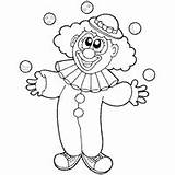 Clown Juggling Coloring Pages Clipart Surfnetkids Preschool Outline Circus Sketches Sketch sketch template