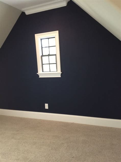 sherwin williams naval accent wall chez moi