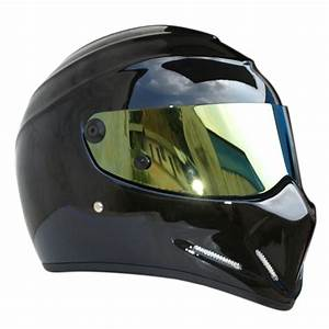 Street Bandit Black Karting Motorcycle Helmet Full Face ...