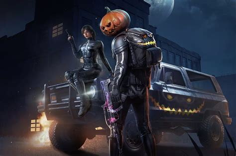 pubg mobile se disfraza  la noche de halloween