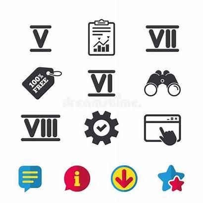 Numero Digit Characters Icone Romano Roman Numeral