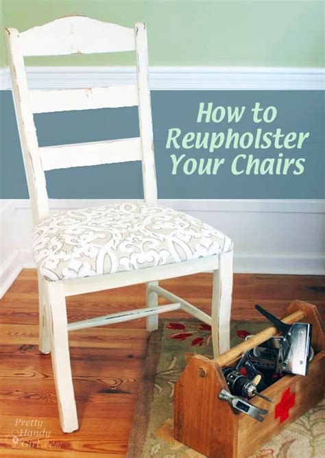 tutorial how to reupholster dining chairs and