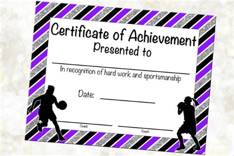 certificate  achievement templates sample templates
