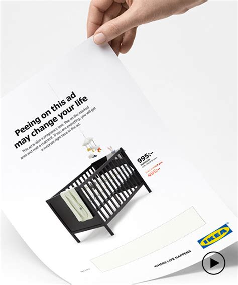 Test Ad - ikea pregnancy test ad gives expectant mothers 50 if