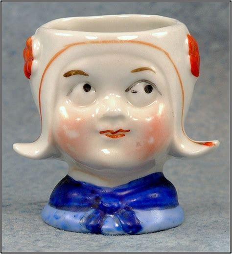 Face Egg Cup Porcelain