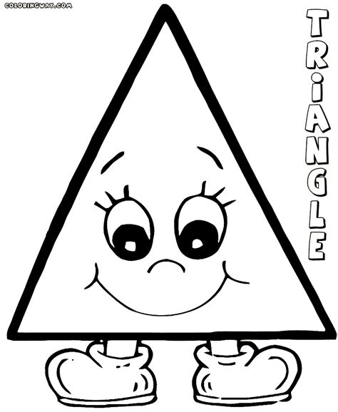 triangle coloring pages coloring pages    print