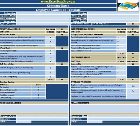 22480 employee evaluation form exle employee evaluation or employee performance