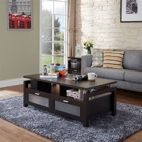 Living Room Furniture Ta by Furniture Of America Bauston Espresso Storage Coffee Table