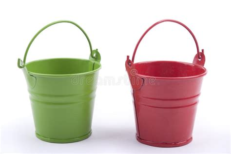 Two Iron Buckets. Stock Photo. Image Of Container, Iron