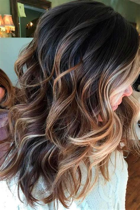 brunette hair  highlights ideas  pinterest