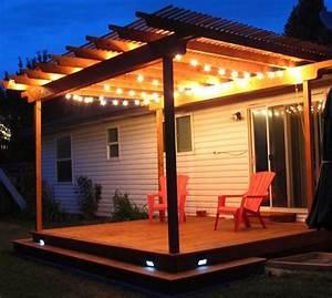 Eclairage Terrasse Bois : clairage terrasse 60 id es et conseils pour un ~ Melissatoandfro.com Idées de Décoration