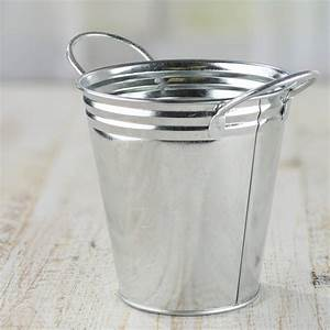 Galvanized, Metal, Bucket, -, Decorative, Containers, -, Kitchen, And, Bath