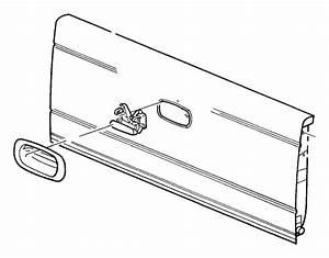 2006 Dodge Dakota Tailgate  Without  Pickup Box Utility Rails  Holes For Spoiler  Deflector