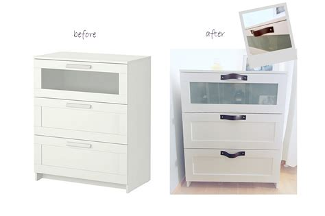 white changing table dresser bringing the chic trick ikea brimnes leather handles