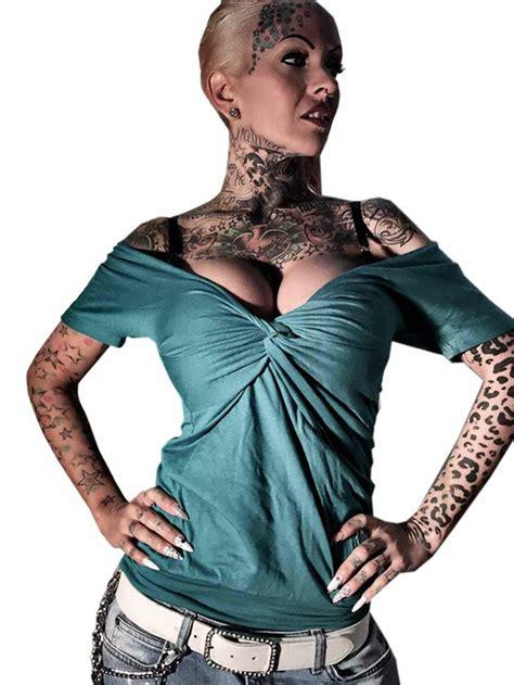 womens mexican top  yakuza clothing blue grass