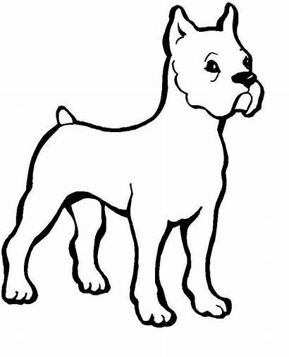 Cartoon Puppy Cliparts Coloring Dog Pages Printable
