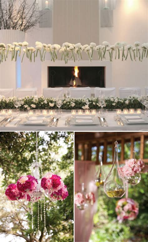 hanging floral centerpieces wedding trends hanging wedding decor belle the magazine