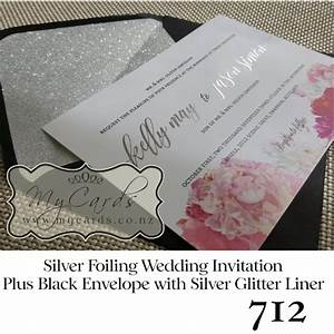 silver foil wedding invitation design 712 mycards With foil wedding invitations nz