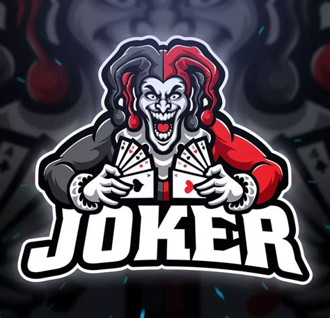 joker sport  esport logo template ai eps