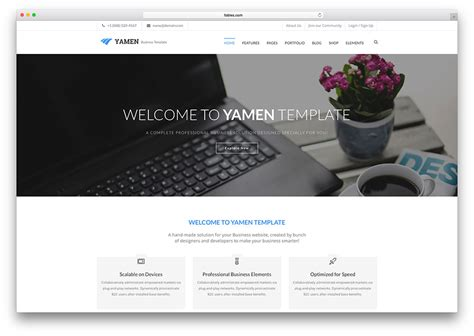 Top 18 Business Website Templates (html5 & Wordpress) 2017