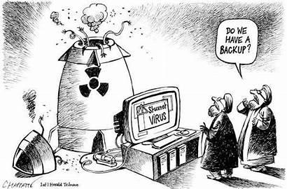Stuxnet International Cyber Iran Boomerang Cartoon Malware