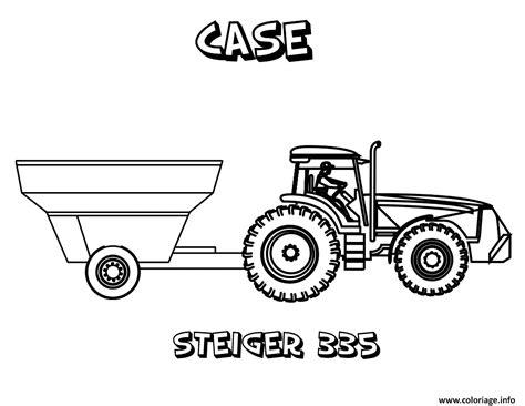 coloriage tracteur  jecoloriecom