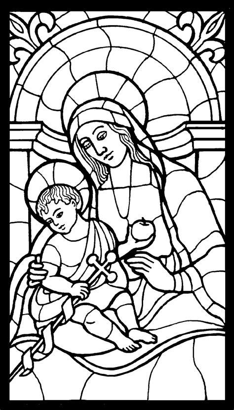 maria mit gotteskind ausmalbild malvorlage religion