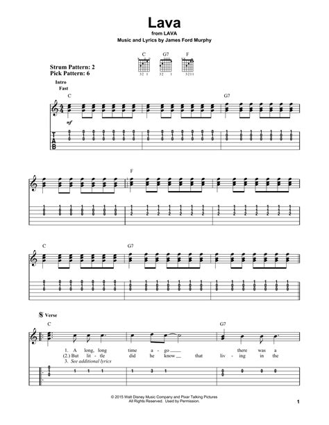 Lava By James Ford Murphy  Easy Guitar Tab Guitar