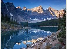A cold morning in Moraine Lake Banff National Park, Canada
