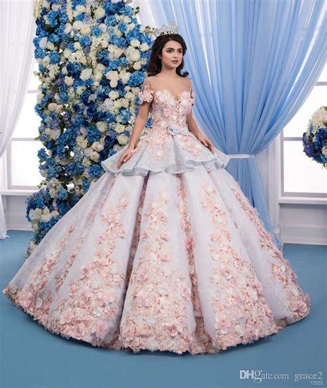 flower purple dress 3d floral wedding dresses 2018 with