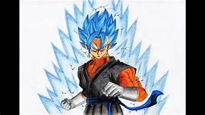 ベジット 超サイヤ人の ブルー 描いてみた/Drawing Gogeta Super Saiyan Blue ...