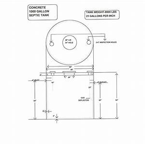 30 1000 Gallon Septic Tank Diagram