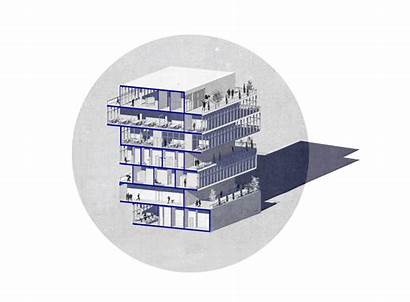 Building Mixed Architecture Gifs Architectural Projects Behance