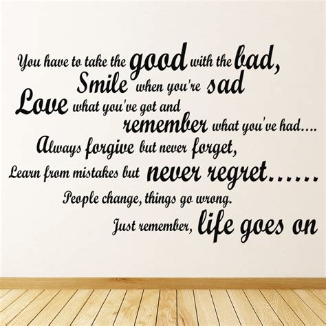 good   bad inspirational quote wall sticker life